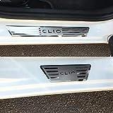 4 piezas de acero inoxidable moldura de umbral de puerta protector de placa de desgaste pedal de bienvenida estilo de coche para Renault CLIO IV V CLIO 4 5 RS Grandtour 2014 2015 2016 2017 2018 2019