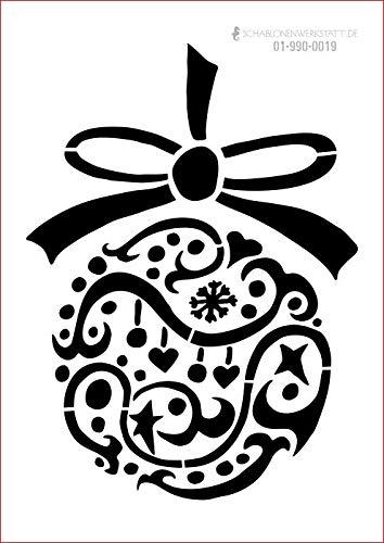 graphits Schablone Weihnachten, Weihnachtskugel, 01-990-0019 Fensterschablone, Dekoschablone, Größe anpassbar