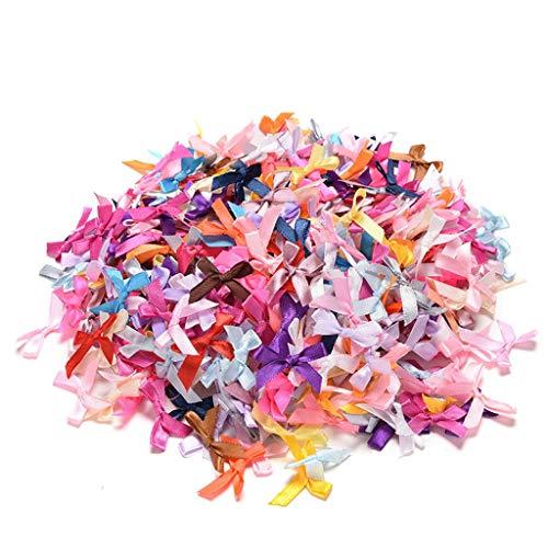 LANDUM 100 Stück Mini Satinschleifen Blumen Schleifen Geschenk Basteln Hochzeit Dekoration Dekoration Dekoration