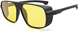 Steampunk Polarized Sunglasses Men Women Side Shield Oversize Glasses By Long Keeper