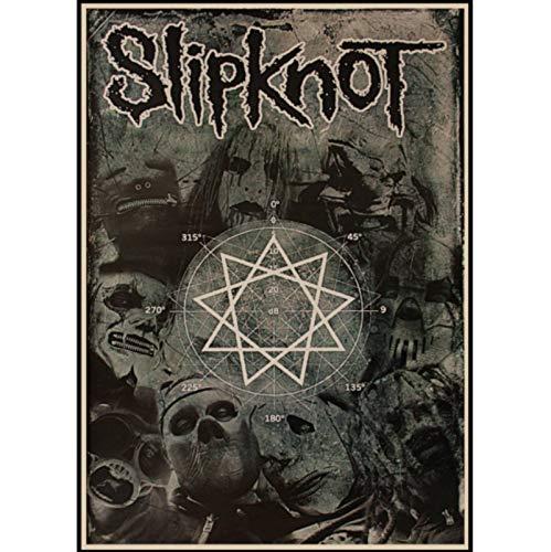 CINRYTN Carteles De Lona Slipknot Heavy Metal Rock Band Arte De La Par