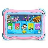Tablette PC Enfant YUNTAB Q91, Android 8.1, 1GB RAM+16GB ROM, Cortex A7 Quad-Core A50 1,5 GHz, Écran IPS 7 Pouces, Caméra Double, WI-FI, Bluetooth, avec Certification GMS(Rose)
