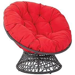 Coussin de chaise de patio Papasan rond 120x120x15cm Coussin de chaise Papasan avec sangles de positionnement,siège d…