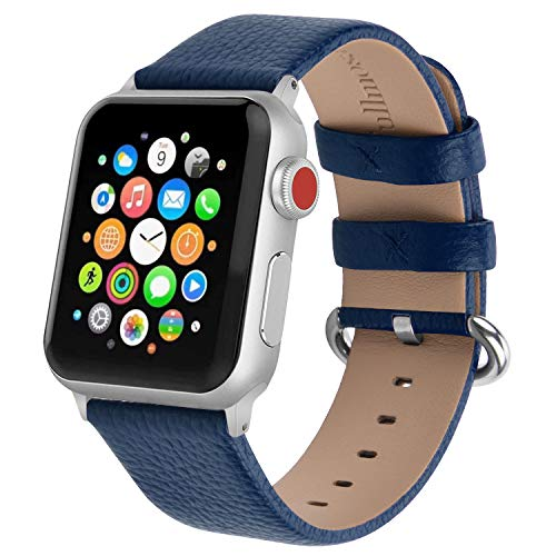 Fullmosa kompatibel mit Apple Watch Armband 40mm 38mm, Lederband Ersatzband für iWatch Series 5/4/3/2/1, Klassische Leder Armband geeignet für Männer und Frauen