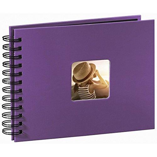 Hama Fotoalbum 24x17 cm (Spiral-Album mit 50 schwarzen Seiten, Fotobuch mit Pergamin-Trennblättern,...