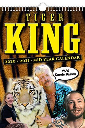 Tiger King 2020-2021 Calendario de pared // Mediados años (julio de 2020) – (junio de 2021), divertido/peculiar – cumpleaños idea de regalo/regalo