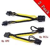 Tarjeta gr/áfica Sroomcla Para la l/ínea de Tarjetas gr/áficas Mac Pro Cable Adaptador Express 18AWG Dual Mini 6 Pin a 8 Pin Macho Cable de alimentaci/ón PCI-E Macho