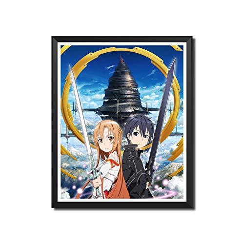 Yansang Anime Sword Art Online Bathroom Decor Wall Decor Home Decor Canvas Print Poster,Unframed,8 x 10 Inches,Set of 1 Piece