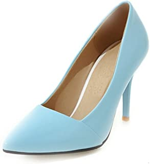 Smilice Women Dressy High Heels Pointed Toe Court Shoes for Wedding & Party