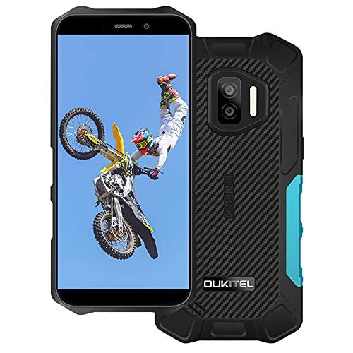 OUKITEL WP12 Rugged Smartphone Economici, Android 11 Display 5.5  ,13MP+2MP+2MP Camera,4GB +32GB Robusto Cellulari Offerte, IP68 Impermeabile Antiurto,Batteria 4000mAh, Dual SIM NFC OTG Telefono Blu