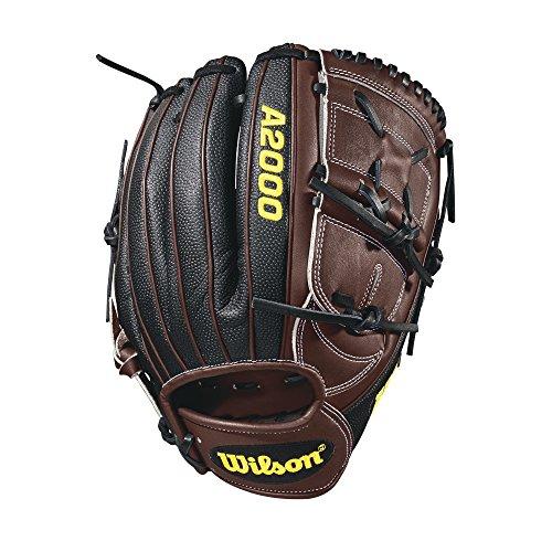 Wilson A2000 12-Inch SuperSkin Baseball Glove, Dark Brown Black, Right (Left Hand Throw)