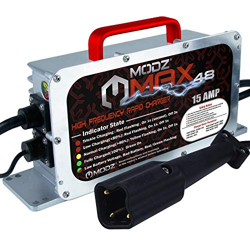 MODZ Max48 15 AMP Yamaha G29 Drive & Drive 2 Battery Charger for 48 Volt Golf Carts