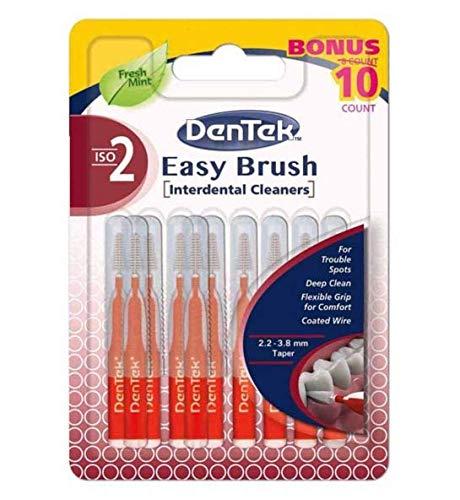 DenTek Easy Brush Iso 2 Interdentalbürsten, 0,50 mm, 10 Stück