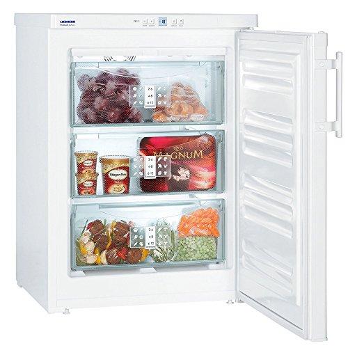 Congelador Vertical - Liebherr GNP 1066, Capacidad total 91 L, A++, 3 cajones, Blanco
