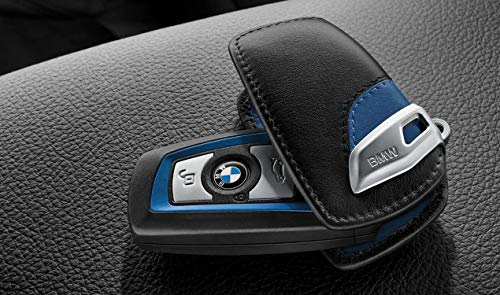 BMW Schlüsseletui M-Sport Line schwarz blau Etui 1er 2er 3er 4er 5er 6er 7er X3 X4 X5 X6