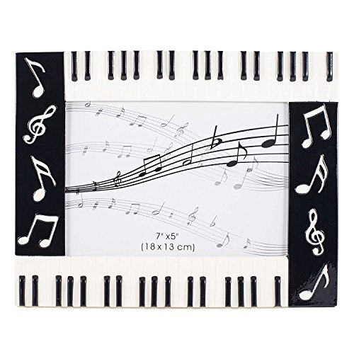 Broadway Gift Piano Keyboard Musical Notes Treble Clef Decorative 5x7 Picture Frame,Multicolor