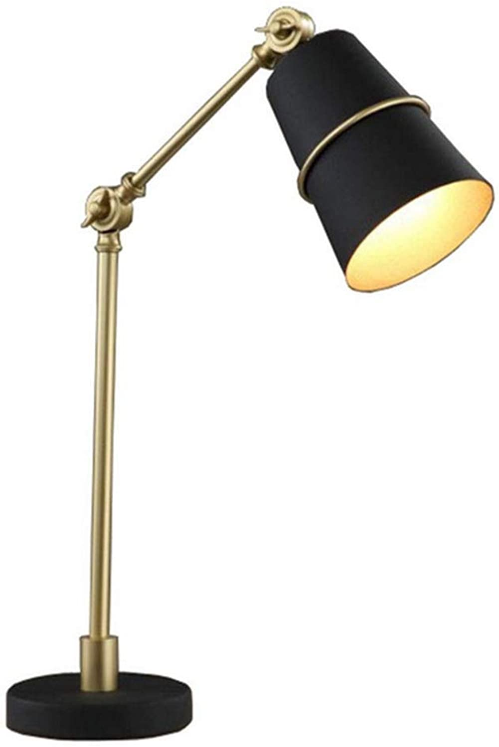 Lichtmodern Metal Table Lamp,Minimalist E27 Decor Table Light With Adjustable Arm For Bedside Bedroom