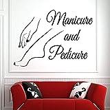 adesivo da parete vinile adesivo per vetri da parete smalto per unghie salone di bellezza manicure pedicure arte murale decorazione per salone di bellezza 80x57cm