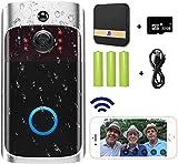 Video Doorbell Camera (2020 Upgraded), GOWOK WiFi Doorbell Camera Wireless with Smart PIR