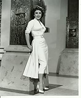 Elizabeth Liz Taylor glamour shot 8 x 10 Photo white dress