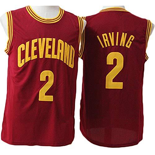 LITBIT Baloncesto para Hombre NBA Jersey Cavaliers 2# Irving 2021 Transpirable Secado rápido Resistente al Desgaste Vestima sin Mangas Top para los Deportes,Rojo,XL