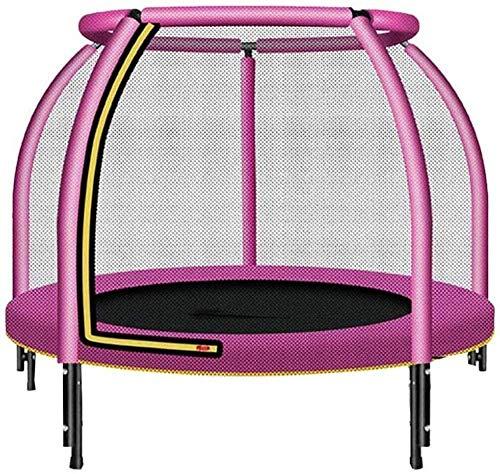 Trampoline met veiligheidsbehuizing binnen of buiten voor kinderen 48 inch draagkrachtig 400 pond voor kinderen Binnen of buiten Oefening Fitness Trampoline Roze (upgrade)