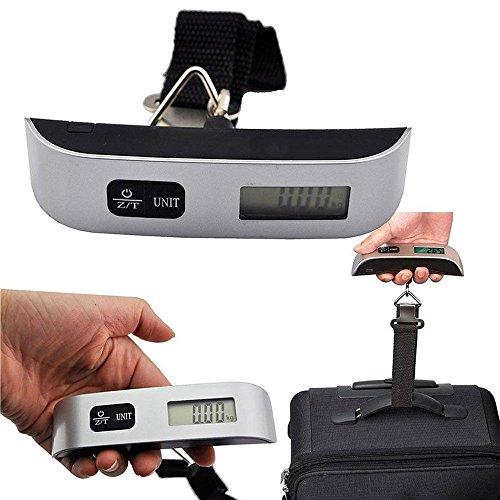 Báscula Digital de Precisión, Rango de Pesaje de 10g a 50kg, Balanza Portátil para Maletas