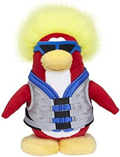 Disney Club Penguin 6.5 Inch Series 6 Plush Figure Water Sport Includes Coin with Code!