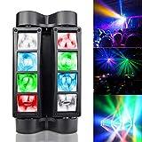 BETOPPER luz de cabeza móvil luz de dj luz de escenario LED RGBW DMX512 luz de discoteca luz de fiesta luz de control de sonido de alta energía apto para bares,discotecas, fiestas, navidad.