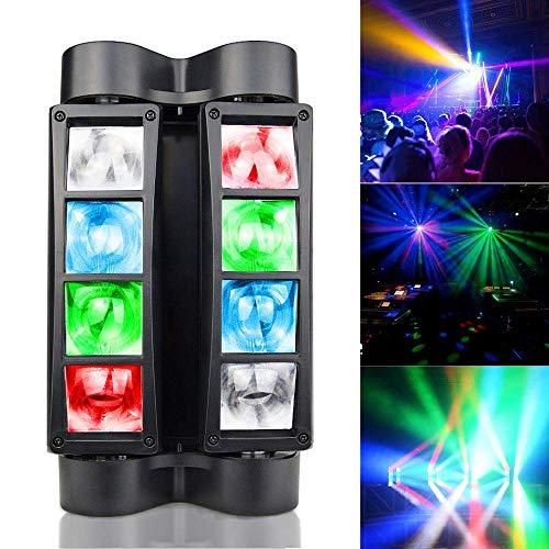 BETOPPER Luce DJ Luci da discoteca Luci da palcoscenico Mini Spider Teste mobili Luce da ballo LED RGBW DMX512 Luce ad alta energia attivata dal suono Super Cool per Party Club Bar Casa