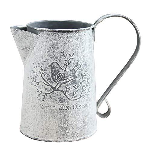 DYY Vintage Fer Feuille arrosoir, Maison Pastorale Fleur Bucket Artisanat Boutique Vases Accessoires Outils de Jardinage Coulage Bouilloire (Couleur : 11×8.5×15cm)