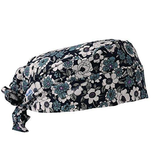GUOER Scrub Hat Calabash Hat Scrub Cap Calabash Scrub Hat One Size Multiple Colors (Blue17)