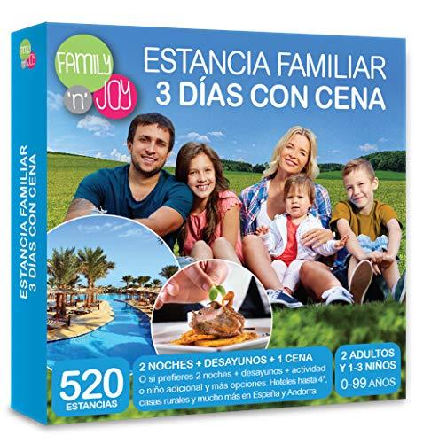 FAMILY 'N' JOY NJOY Experiences - Caja Regalo - Estancia Familiar 3 DÍAS con Cena - Más de 490 estancias Familiares con Cena a Escoger …