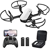 Potensic Elfin Foldable Drone with 2K Camera for Adults, 20min 2 Battery FPV Quadcopter with Gravity Sensor, Gesture Control, Optical Flow, Headless, Trajectory Flight, Toy Selfies for Beginners/Kids