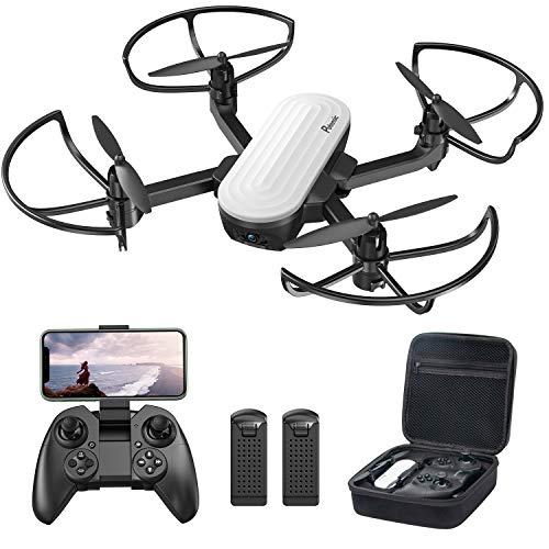 Potensic Faltbare Drohne mit Kamera 2K HD FPV Kamera Live Übertragung Handy mit 20min Flugzeit, Quadrocopter mit Schwerkraftsensor Mini Drohne Spielzeug Geschenk für Kinder, Anfänger, Weihnachten
