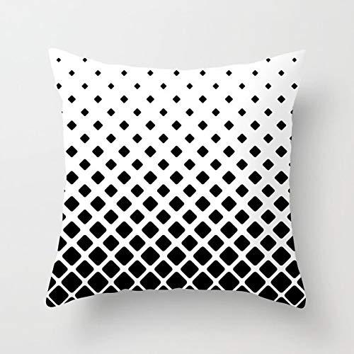 Geometric Cushion Cover Black And White Throw Pillowcase Stripe Cushion Cover Sofa Car Cushion 450mm*450mm 21