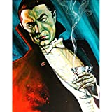Bat Man by Mike Bell Dracula Vampire Canvas or Fine Art Print Poster for Framing