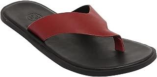 WCFC Men's Black Leather Open Casual Slipper