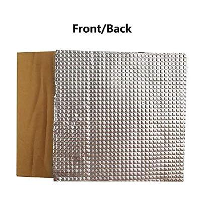 "Aokin 3D Printer Platform Heated Bed Insulation Lightweight Foam Foil Self-Adhesive Mat Sticker Hotbed Thermal Pad for CR-10 Reprap Ultimaker Makerbot, 7.87"" x 7.87"" x 0.39"""