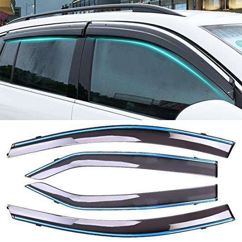 Simple y practico 4 PCS Ventana soleada Lluvia Viseras toldos Sunny Rain Guard for Toyota Corolla 2014-2018 versión, Simple y práctico