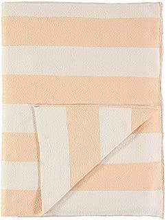Meri Meri Peach Ivory Stripe Knitted Blanket
