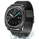 BANLVS Smartwatch, Reloj Inteligente Impermeable 67 con PulsómetroPresión Arterial, Pulsera ActividadInteligente con Monitor de Sueño Calorías GPS, Reloj Deportiva para Hombre Mujer