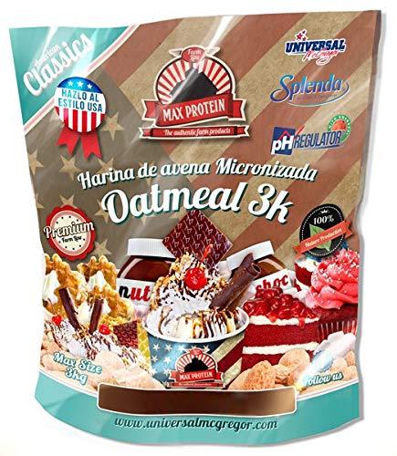 Max Protein Oatmeal Sac Harina Avena Termo Activada   3000 gr
