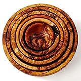 Olivenholz-Schalen Set 6-teilig, min.5cm, max 15cm