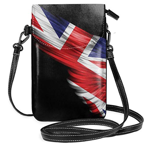 WAUKaaa Wings of The British Flag Leather Cell Phone Purse Holder Wallet Functional Multi Pocket for Women