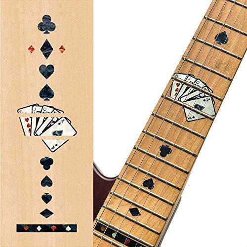 Inlay Sticker Griffbrett Position Marker für Gitarren - Playing Cards - Schwarze Perle