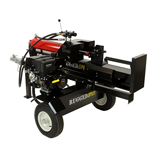 Cheapest Price! RuggedMade 28 Ton Gas Powered Hydraulic Log Splitter, 4 Way Wedge (212cc Electric St...
