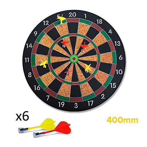 LYY Hängen Magnetic Dart Board Set mit 16 Zoll Dartscheibe 6 Magnetic Darts sichere Freizeit Spiele für Kinder und Erwachsene Indoor Dartscheiben Dart Platte