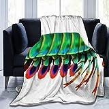Manta de Tiro Personalizada,Crustáceos Peacock Mantis Camarón Arrecife Acuario Agua Salada Estomatópodos Odontodactylus,Manta de Felpa Suave para sofá,Dormitorio,Viaje,Manta mullida 60'X80'