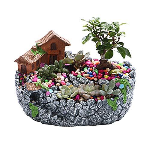 Zongha Maceta Plastico Grande Macetas Plastico La Planta de Interior Pote de Flor Pequeña Planta de Marihuana Jardín de macetas a